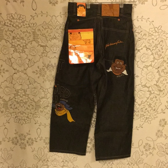 Fubu Platinum Fat Albert The Junkyard Gang Bottoms Fubu Platinum Fat Albert Jeans Rareboy Sz8 Nwt Poshmark